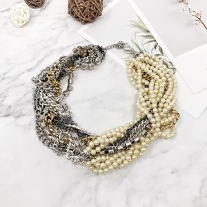 Banana Republic Faux Pearl Statement Necklace